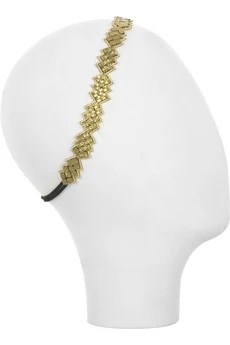 Deepa Gurnani Beveled beaded hairband