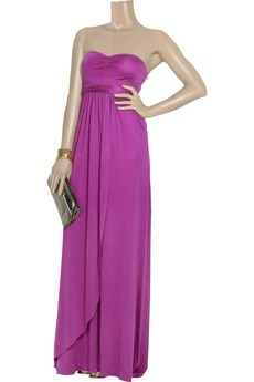 Tibi Long silk jersey gown