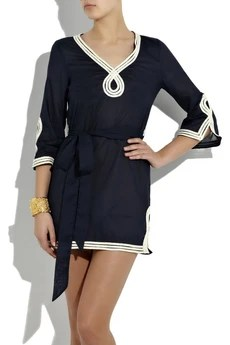Milly Rope-embroidered cotton tunic