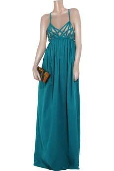 Adam Basketweave cotton maxi dress