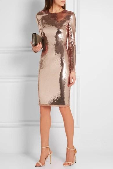 TOM FORD  Sequined tulle dress  NETAPORTERCOM