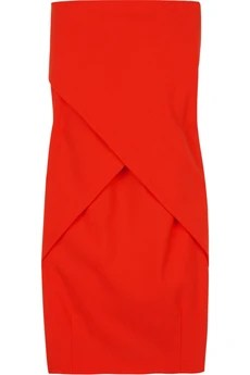 FendiWool-blend strapless dress