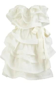 LanvinTiered silk-gazar dress