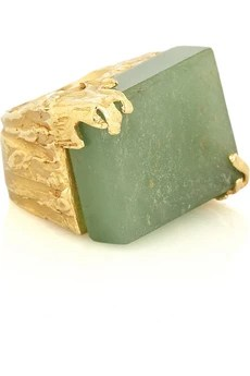 Yves Saint Laurent Arty aventurine ring
