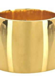 Tom BinnsClassic 18-karat gold-plated ring
