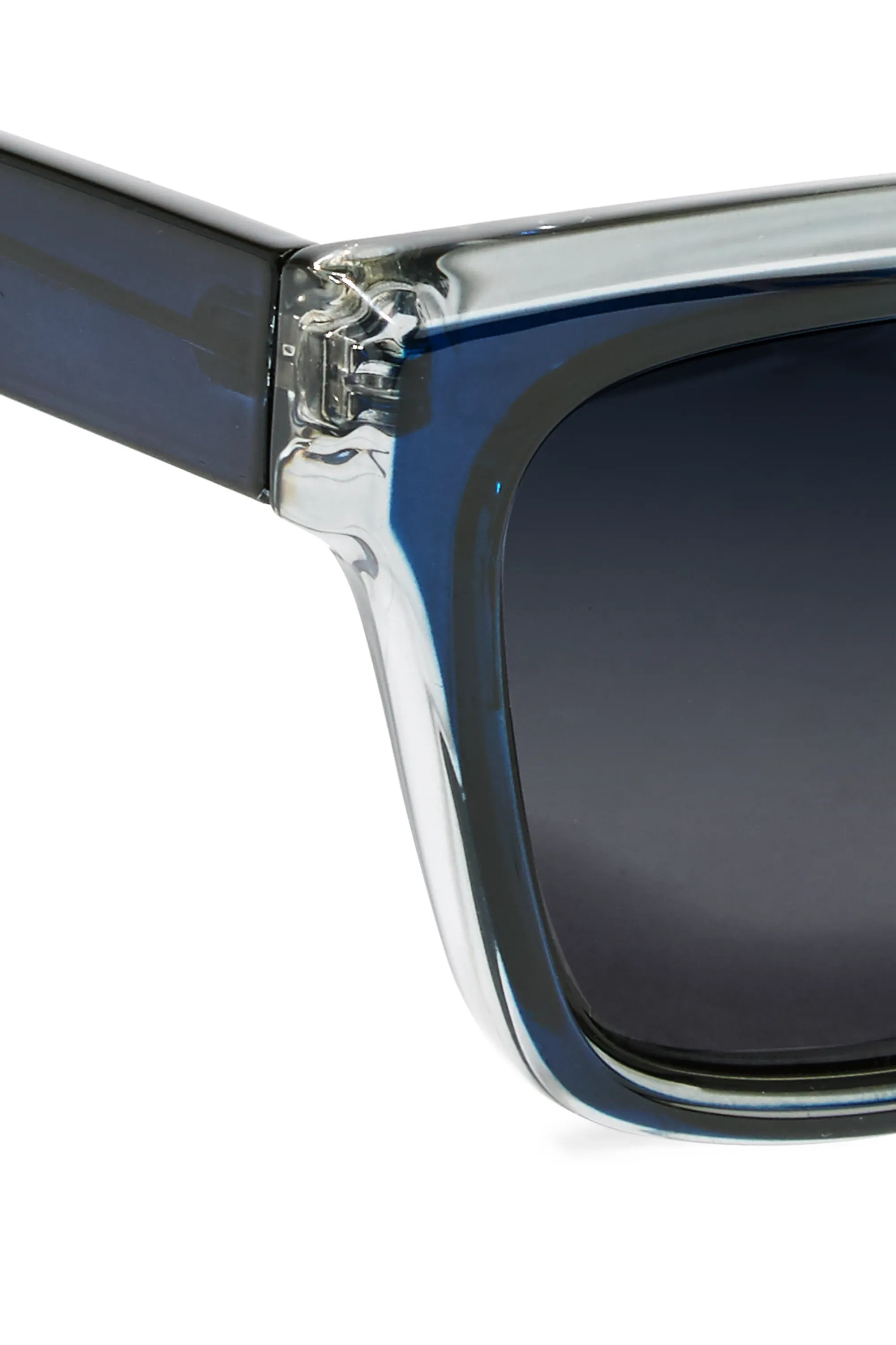 Navy Le Specs Luxe Square Frame Acetate Sunglasses