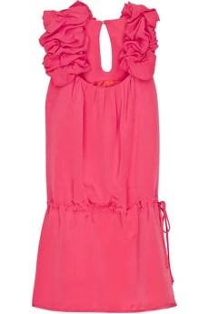 Thread SocialRuffle-strap mini dress