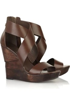 Diane von Furstenberg Opal wedge leather sandals