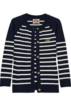 Juicy CoutureStriped cotton-jersey cardigan