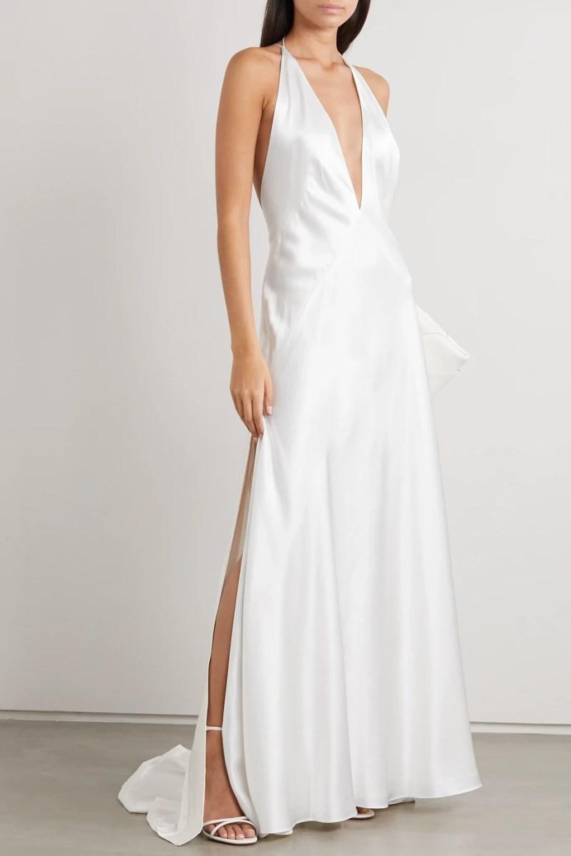 #minimalistdress #bridal #simpleweddingdress #wedding #weddingday #bride #weddingdress #sheerbride