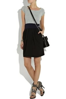 DKNY Tri-color cotton dress
