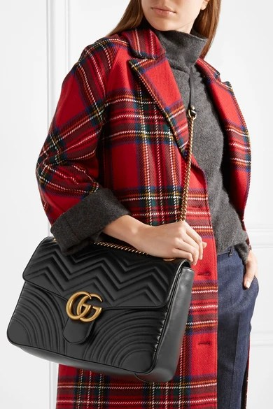 Gucci  GG Marmont large quilted leather shoulder bag  NETAPORTERCOM