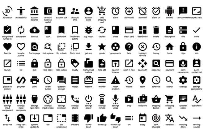 Google libera 750 ícones gratuitos