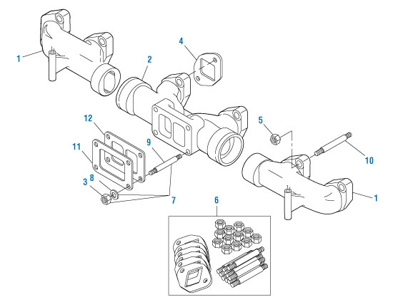Exhaust Manifold Gaskets for Mack E6 E7 E-Tech ASET. PAI