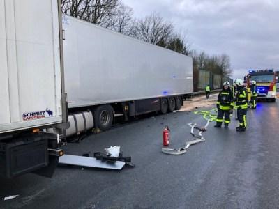 FW-EN: Verkehrsunfall auf der BAB 1 mit drei LKW
