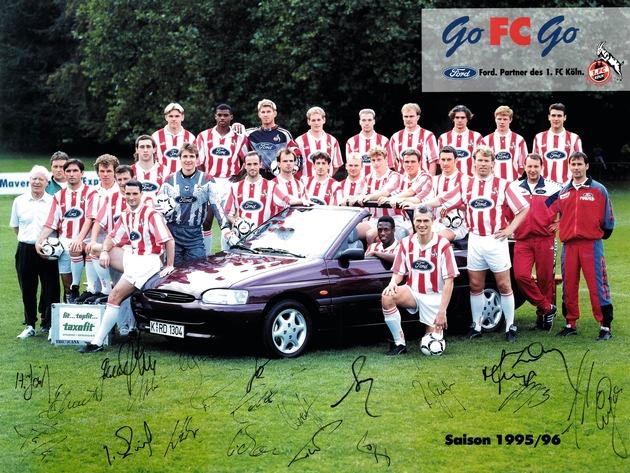 In guten wie in schlechten Zeiten: Ford und der 1. FC Köln feiern 25 Jahre treue Partnerschaft