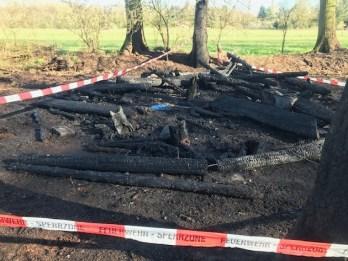 FW-BOT: Laubenbrand greift auf Wald über