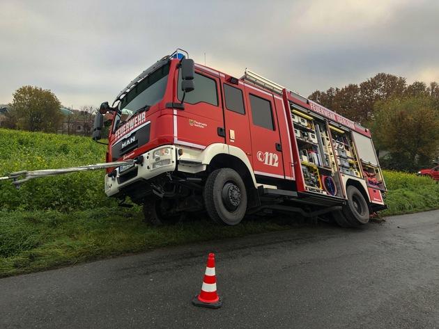 FW-MK: Verkehrsunfall mit Löschfahrzeug