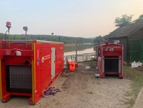 FW-GL: Spezialisten der Feuerwehr Bergisch Gladbach weiter im Kreis Euskirchen im Einsatz
