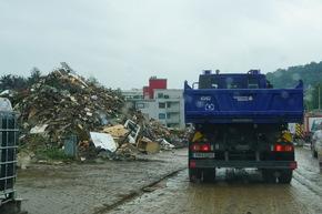 THW HH MV SH: THW setzt Hilfe in Rheinland-Pfalz und Nordrhein-Westfalen fort