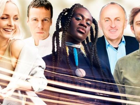 Die deutsche ESC-Jury 2021: Janin Ullmann, Ivy Quainoo, Matthias Arfmann, Uwe Kanthak und Constantin Zöller
