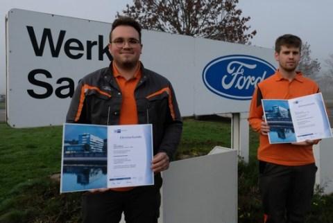 Ford-Azubis als landesbeste Absolventen ausgezeichnet