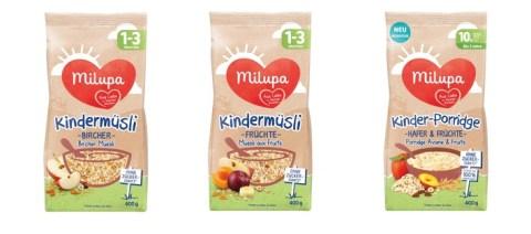 """Milupa ruft in Deutschland aus Vorsorgegründen die Produkte """"Milupa Kindermüsli Früchte, Milupa Kindermüsli Bircher, Milupa Kinder-Porridge Hafer & Früchte"""" zurück"""