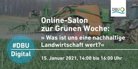 #DBUdigital Online-Salon: Landwirtschaft vor einer Transformation zu mehr Nachhaltigkeit
