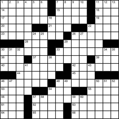 The Phoenix > Puzzles > Crossword: ''The rainbow connection''