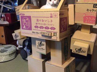 玩具デザイナーの夫×溶接工の妻が作ったロボがかっこいい! 飼いねこも空気を読む完成度