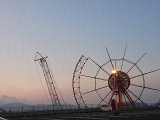 観覧車が半分消えている…27年の歴史に幕を下ろした遊園地「スペースワールド」解体作業中の様子が切なくて胸に来る