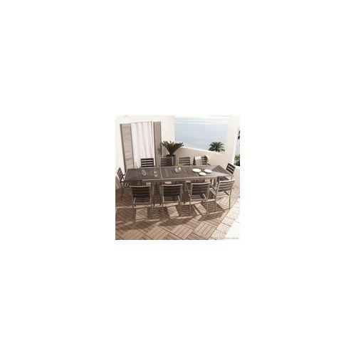 Salon de jardin aluminium 10 places  TopiWall