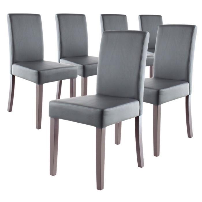 chaise salle a manger lot de 6 topiwall