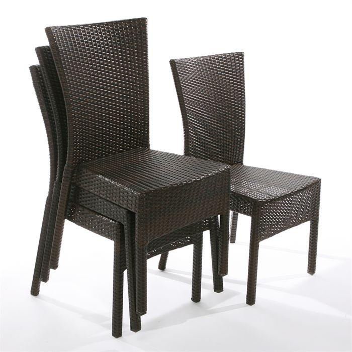 fauteuil de jardin en resine tressee