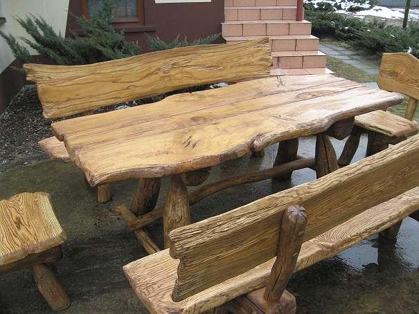 rustikale holzbanke aus polen reimplica gartengestaltung - meuble, Gartenarbeit ideen