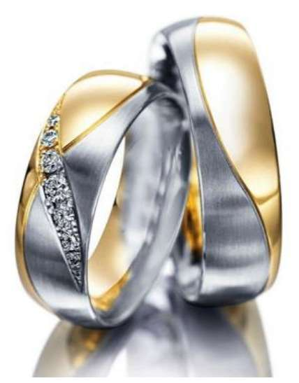 Eheringe Partnerringe Trauringe Verlobungsringe Freundschaftsringe aus Titan mit Zirkonia