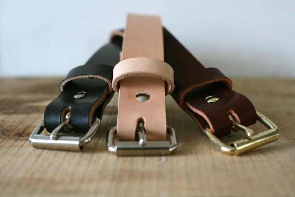 Standard Utility Belt in Natural, Latigo, and Black English Bridle