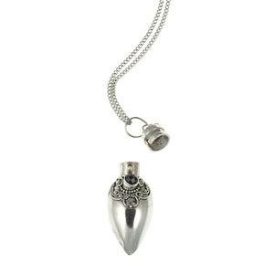Image of Nam-kha. Silver & Onyx Perfume Trinket
