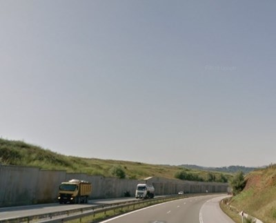 Път Перник - София СНИМКА: Google Street View