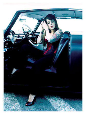 Pin-Up Girl: Tattoo Street Rod Giclee Print