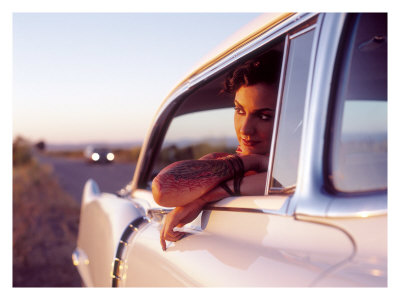Pin-Up Girl: Cadillac Tattoo Giclee Print