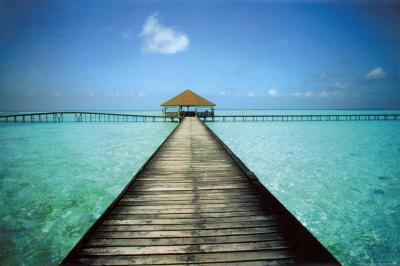 Molo alle Maldive Stampe di Massimo Borchi su AllPostersit