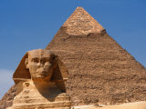 Pyramid and Sphinx, Giza, Egypt Photographic Print by Jacob Halaska