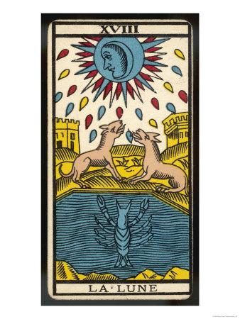 Tarot 18 - La Lune (The Moon)