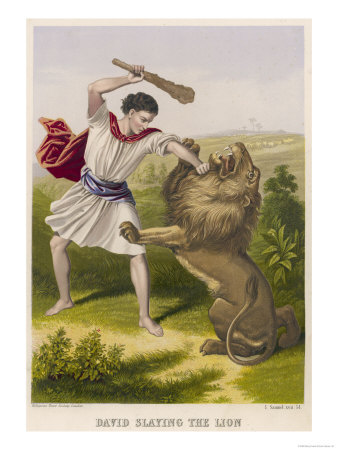 David Slays the Lion Posters