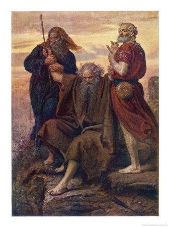 The Israelites are Enabled to Defeat the Amalekites Because Moses Arms are Held up by Aaron and Hur Giclee Print