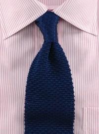 Classic Silk Knit Tie in Navy