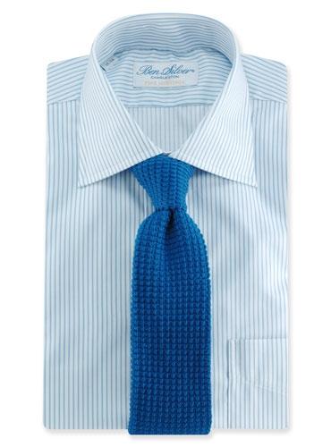 Sea Island Cotton Knit Tie in Royal Blue