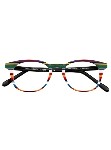 Multi-Colored Handmade Frame in Red, Black and Purple