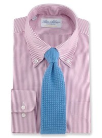 Sea Island Cotton Knit Tie in Sky Blue